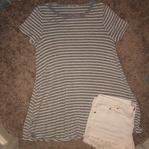 Striped Super Soft Tunic Tee